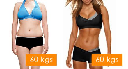 Diferencia entre pérdida de peso y pérdida de volumen